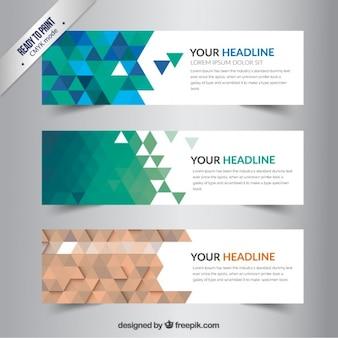 Polygonal banners