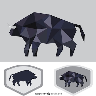 Polygonal black bull