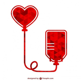 Polygonal blood donation icon