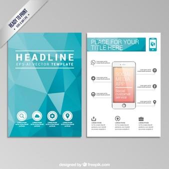Polygonal brochure