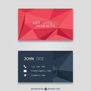 Polygonal business card templates