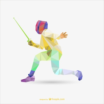 Polygonal color fencing vector