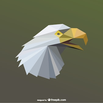 Polygonal eagle head vector