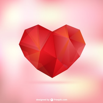 Polygonal heart for mothers day
