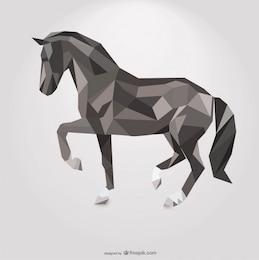 Polygonal Horse Geometric Triangle Design