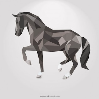 Polygonal Horse Geometric Triangle Design