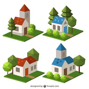 Polygonal houses