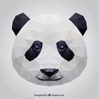 Polygonal panda bear