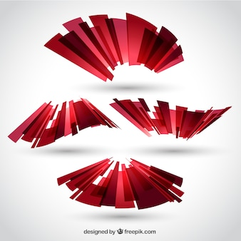 Polygonal ribbon in abstract style