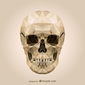Polygonal skull vector