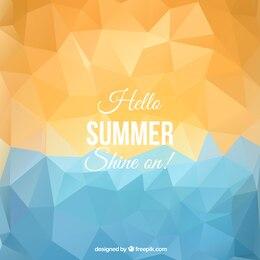 Polygonal summer background
