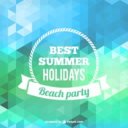 Polygonal summer party poster