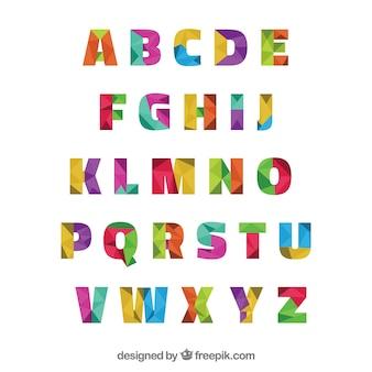 Polygonal typography