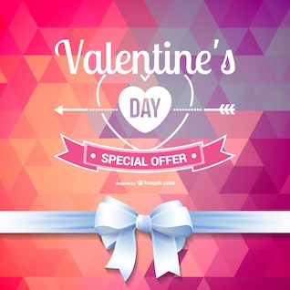 Polygonal Valentine special offer background