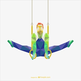Polygonal vector of gymnastic rings