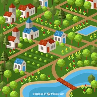 Polygonal village
