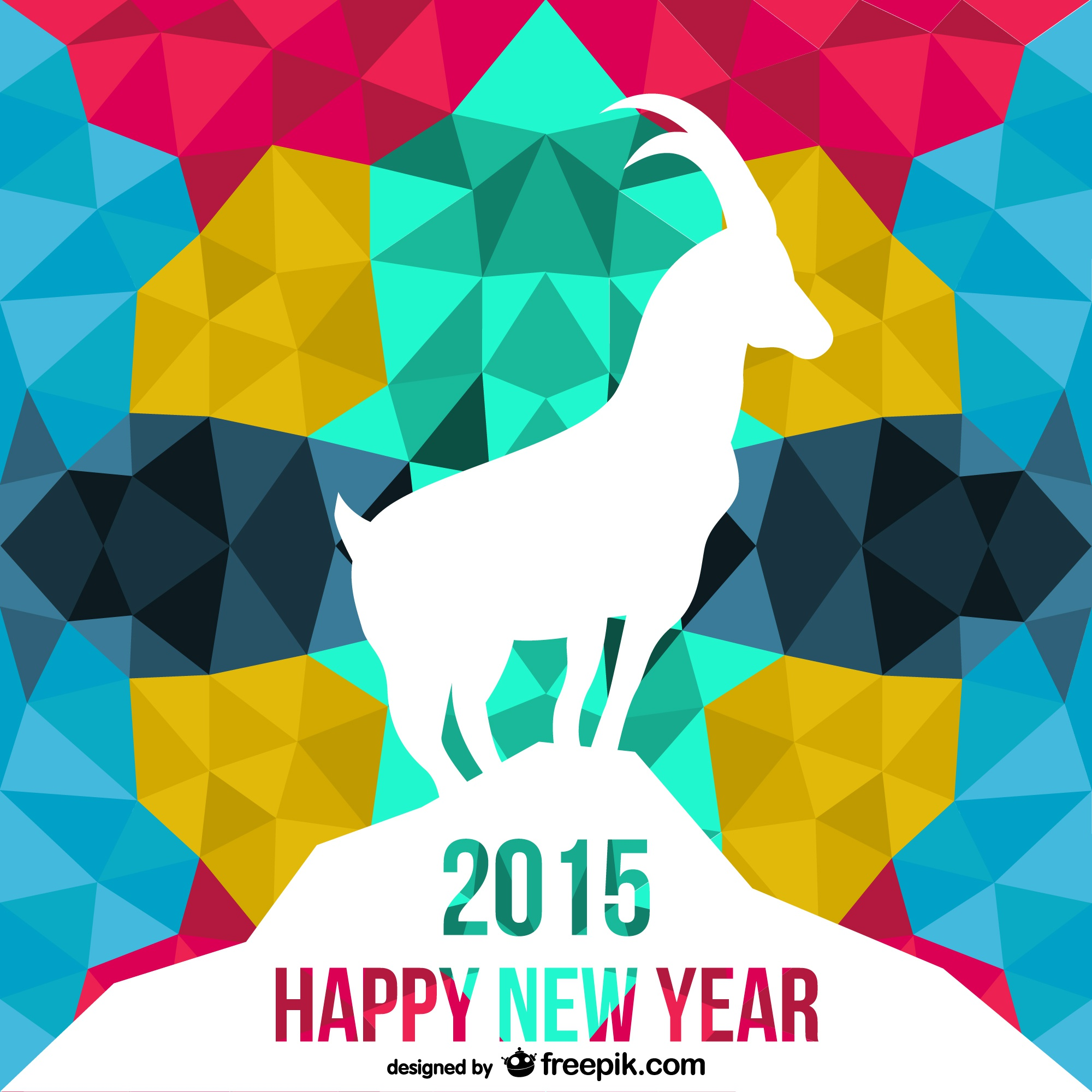 Polygonal Year of the Goat vector