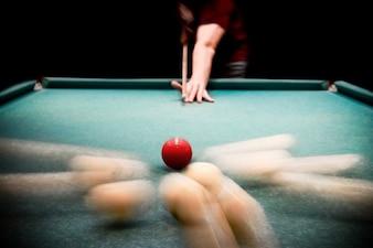 Pool game strike billiards circle