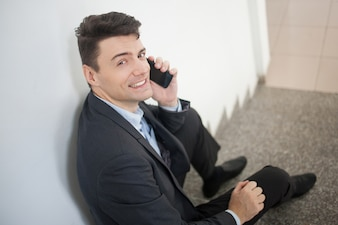 Portable alone business collar phone