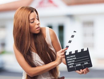 Portrait industry cinematography producer clapboard