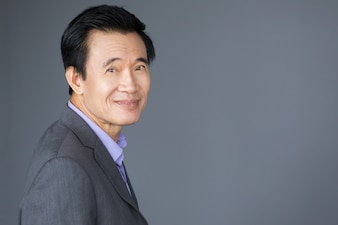 Portrait of Friendly Looking Asian Businessman