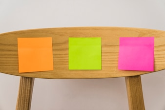Post its on chair