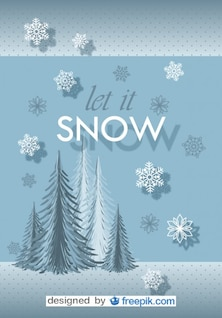 Postcard Let it Snow