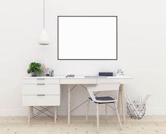 Poster mockup - horizontal frame