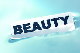 Poster that says  beauty