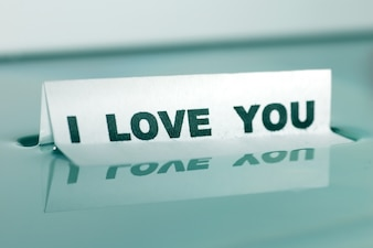 Poster that says  i love you