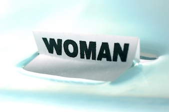 Poster that says  woman