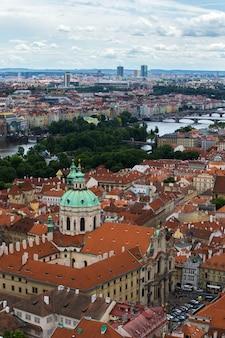 Prague roofs landscape