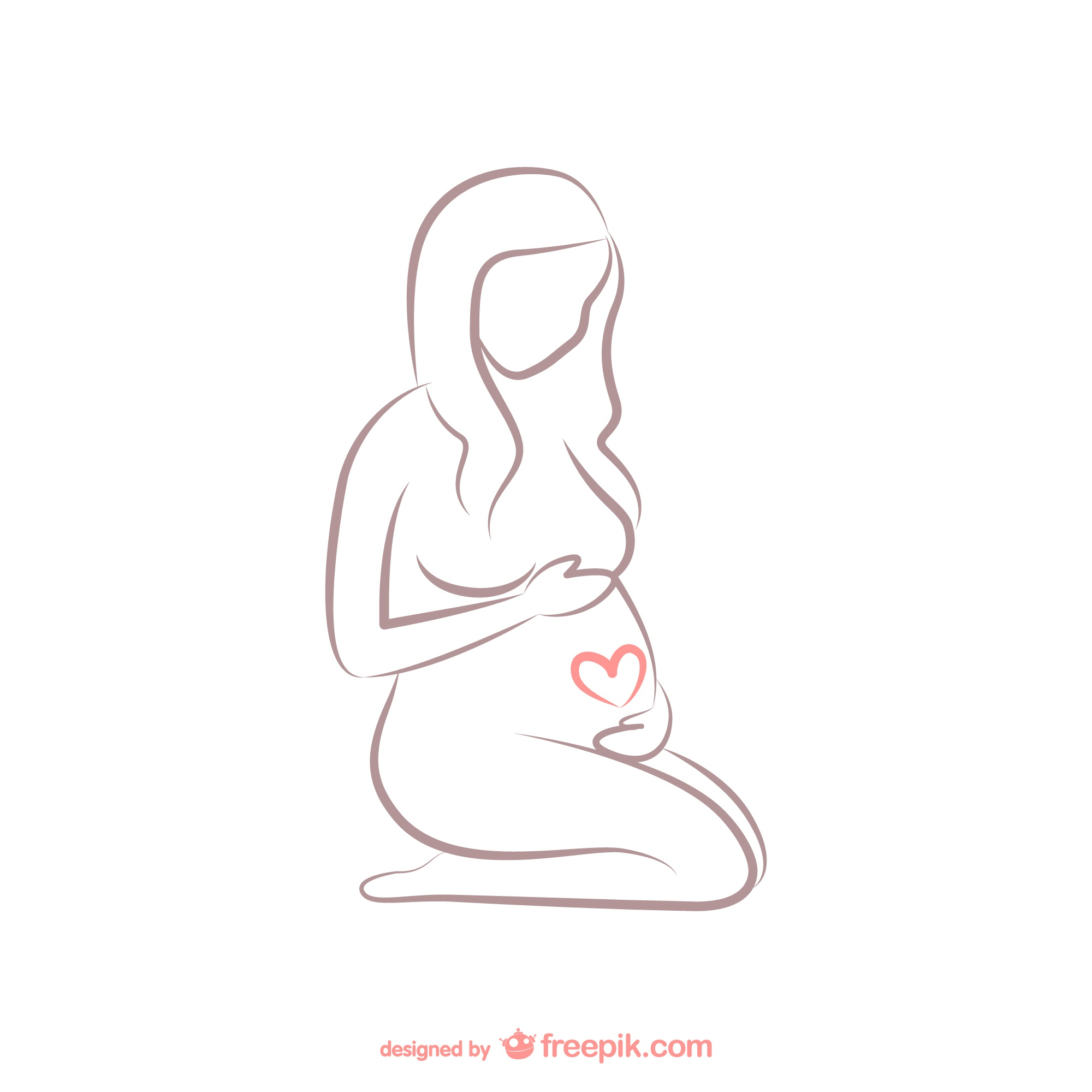 Pregnant woman outline