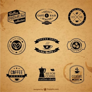 Premium coffee labels and badges