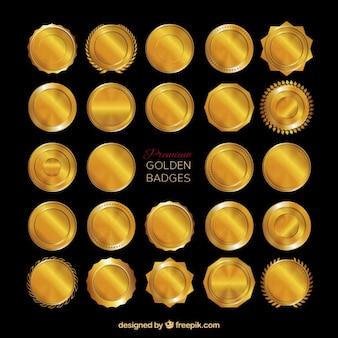 Premium golden badges