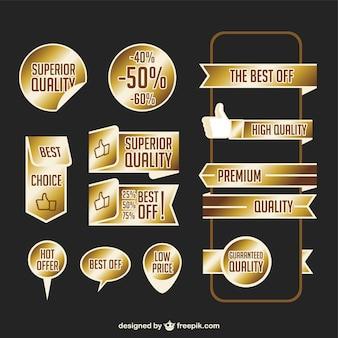 Premium golden ribbons