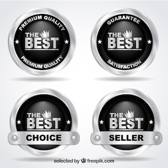 Premium quality badges made of silver