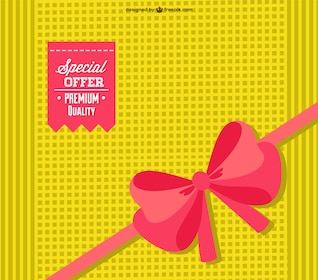 Premium ribbon vector card