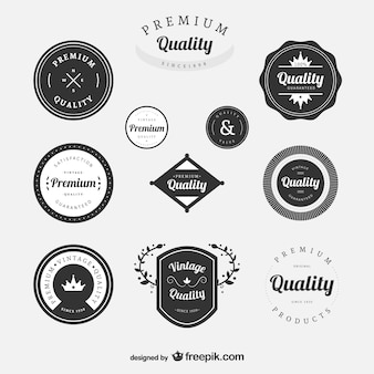 Premium vintage labels set