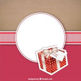 Present card on cardboard