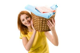 довольно симпатичный молодой девушки полотенце