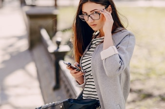 Pretty woman with a phone