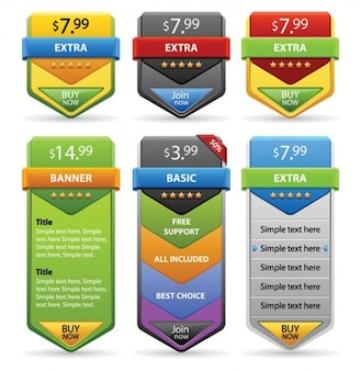 Price tags e-commerce banners vector