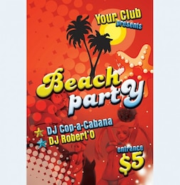 print ready beach party flyer psd