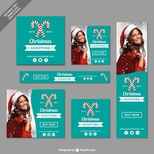 Printable Christmas shopping banners