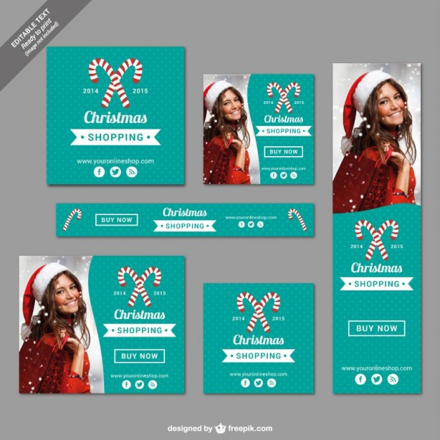 Printable Christmas shopping banners