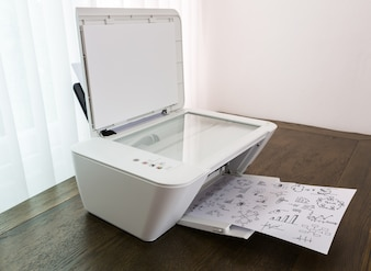 Printer printing papers with graphics