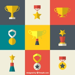 Prizes in flat design