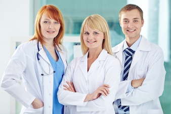 Profession handsome doctor clinic job