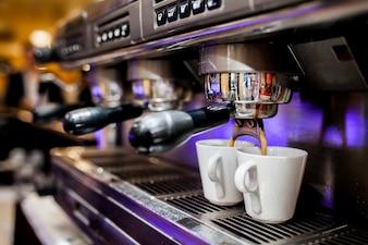 Professional preparation barista maker cafe